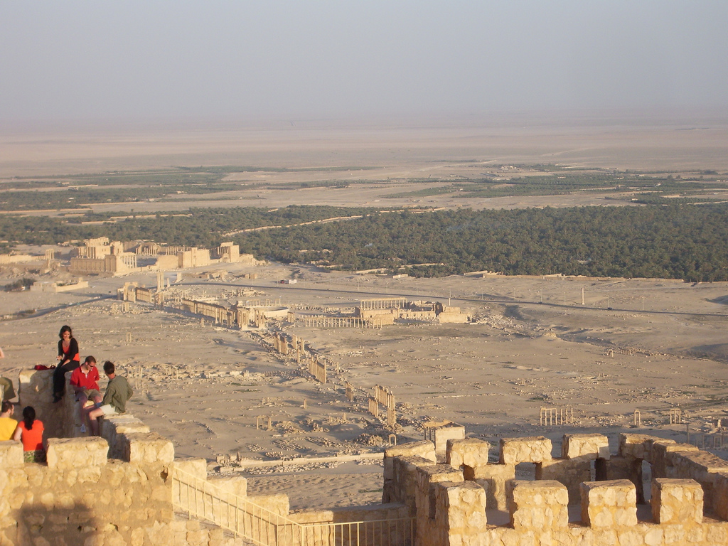 Overlooking the Roman City in Syria