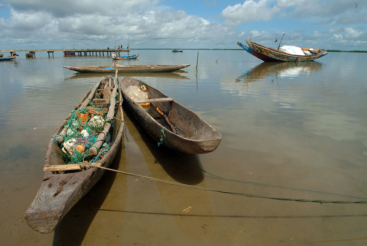 Fishing boats in Senegal