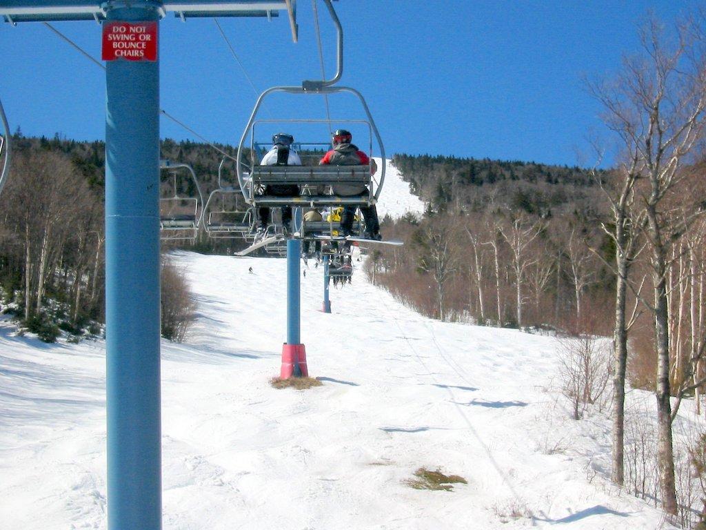 Enjoying spring skiing in Vermont