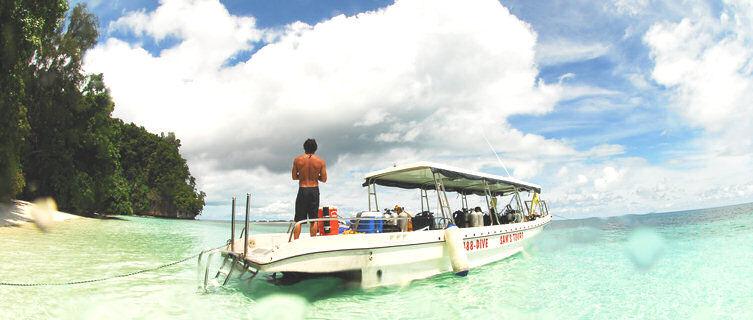 Palau dive boat
