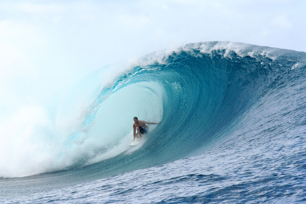 Surfing is a big attraction in Tahiti