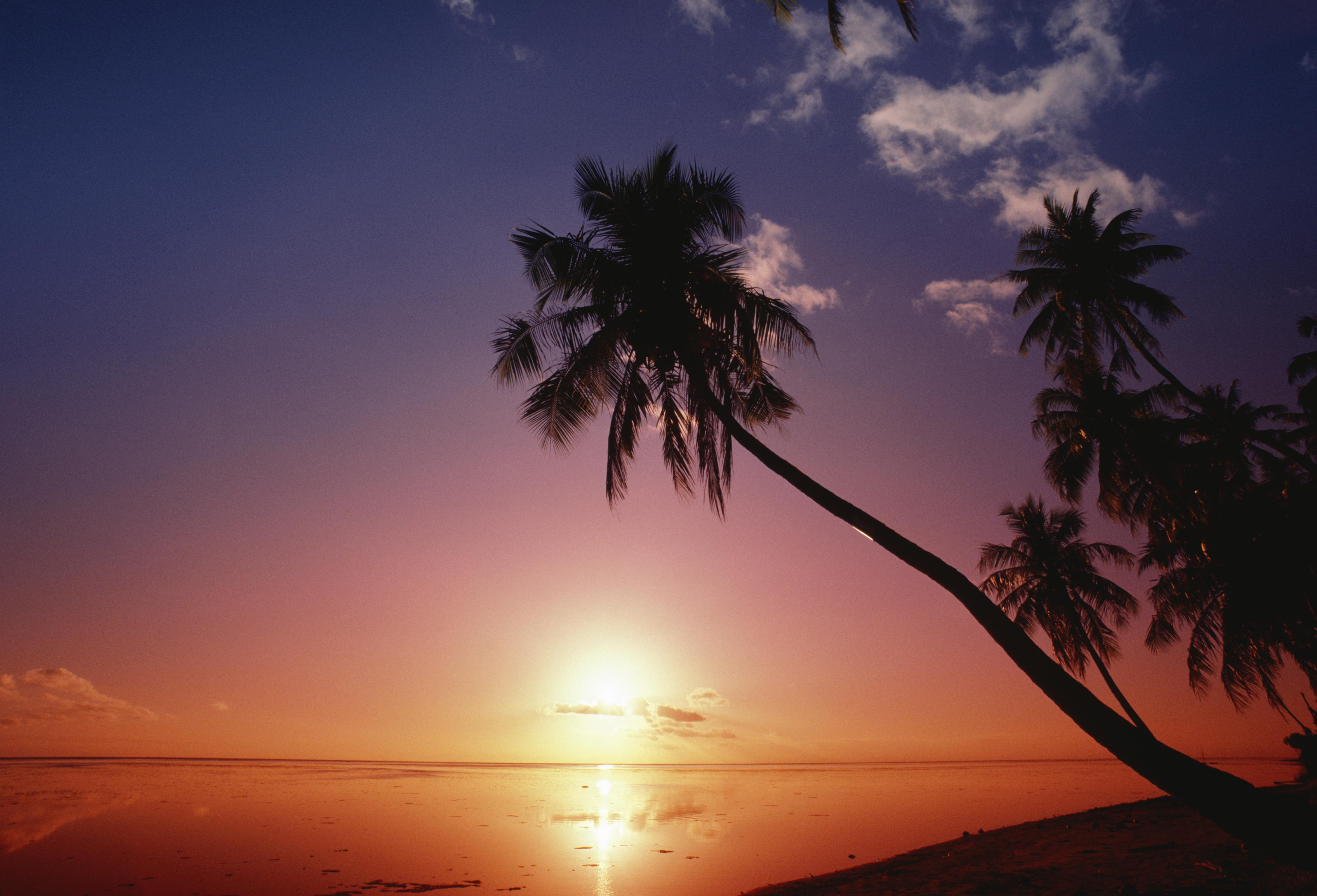 Spectacular sunset, Tahiti