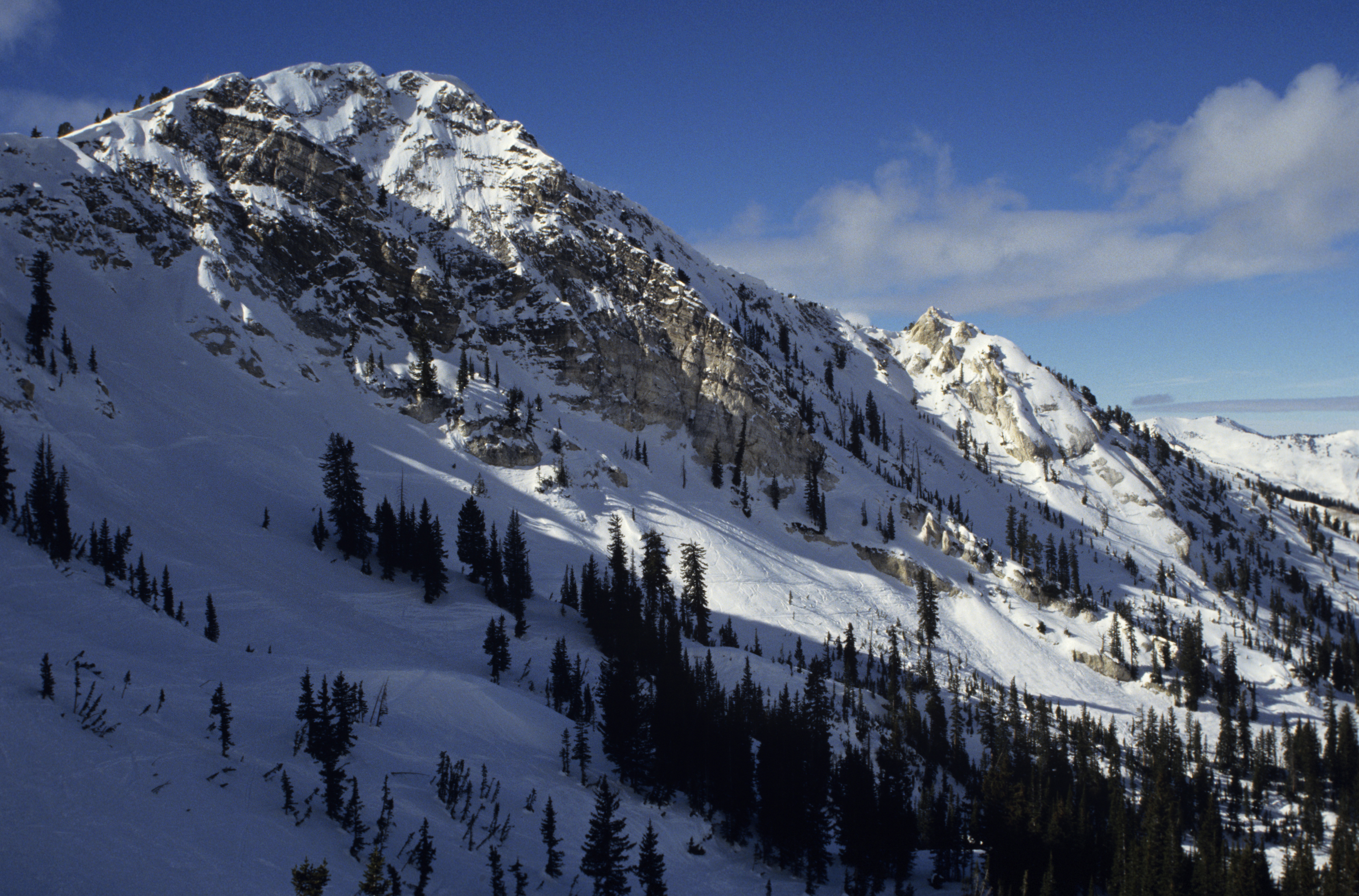 Snowy Utah is excellent for skiing