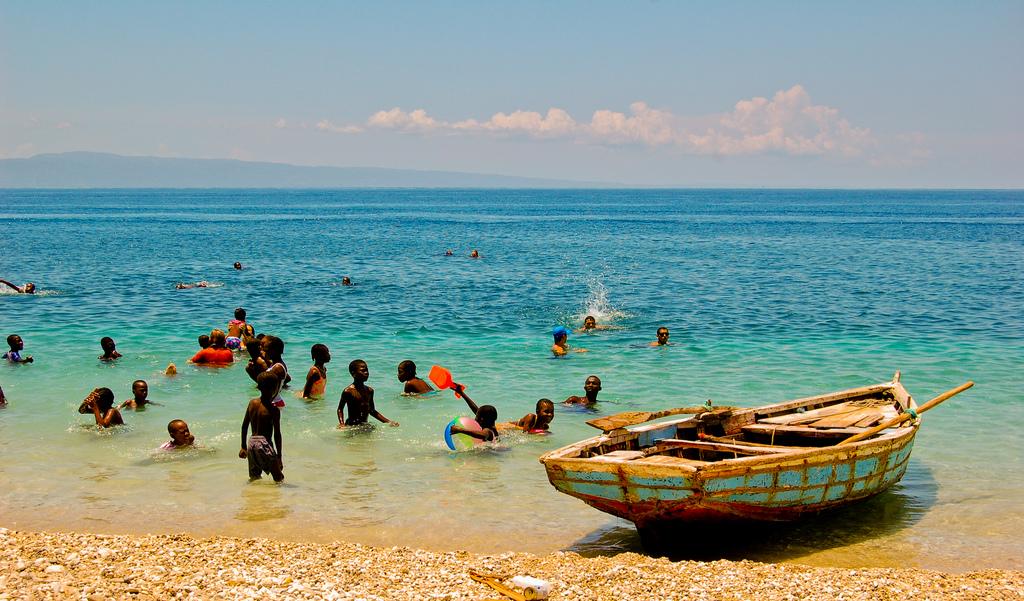 Tropical beach paradise in Haiti