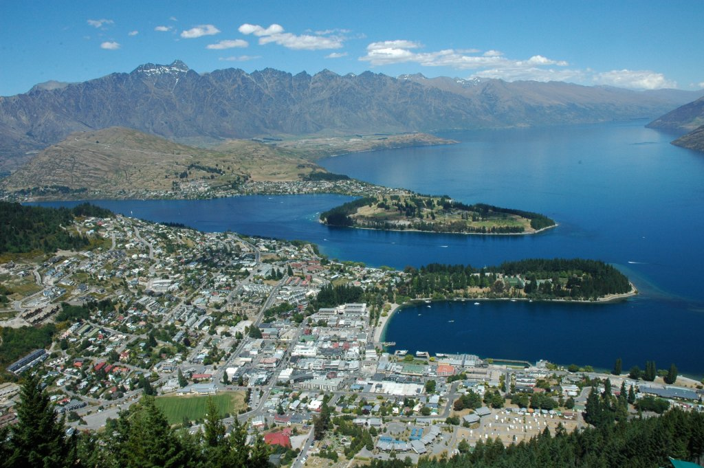 Queenstown framed by The Remarkables, New Zealand