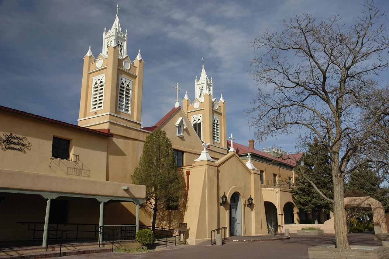 Church in old town, Albuquerque, New Mexico
