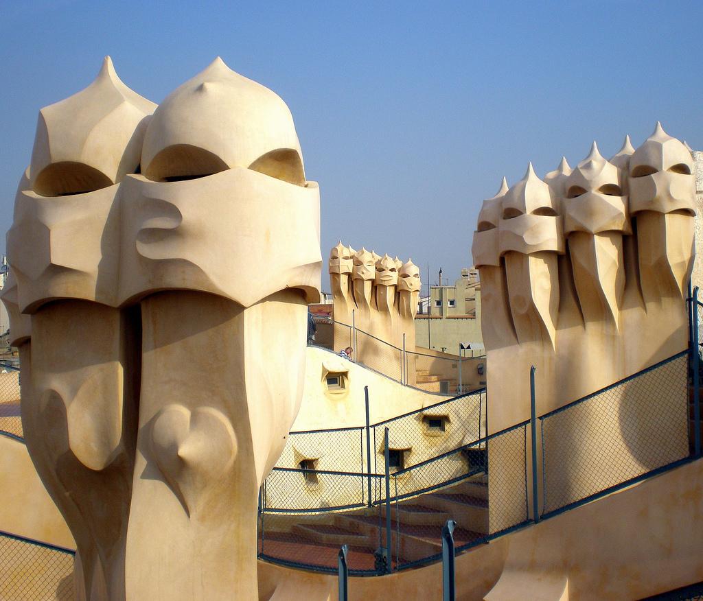Gaudi art in Barcelona, Spain