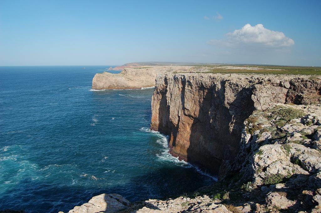 Rugged cliffs at Portugal's Cabo de Sao Vincente