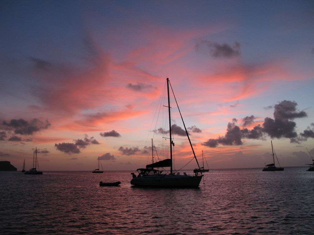 Mustique sunset, St Vincent and the Grenadines