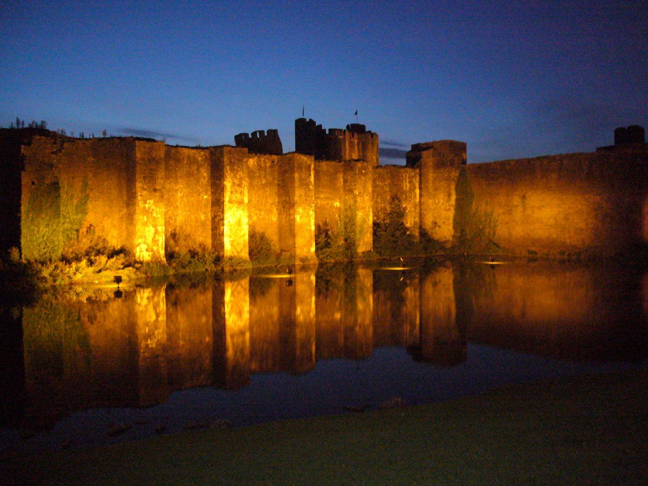 Caerphilly Castle near Cardiff