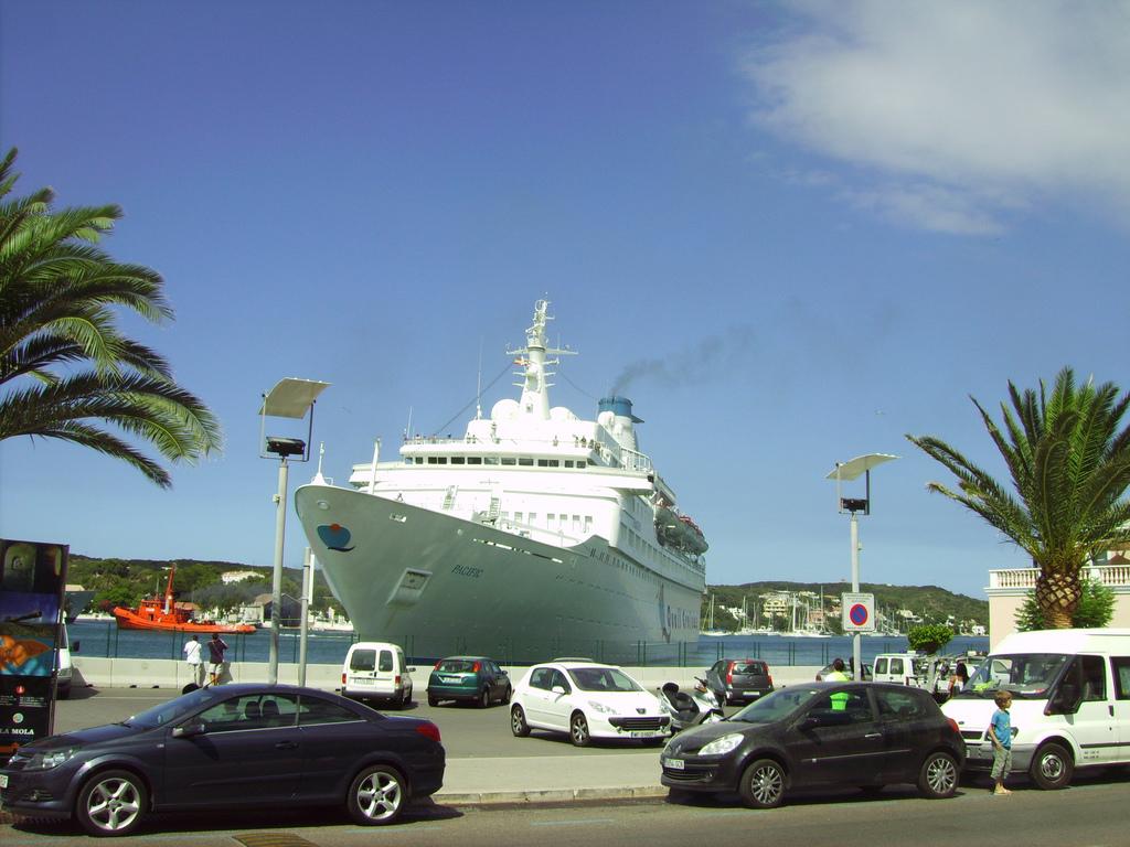 Cruise ship in Mahon, Menorca