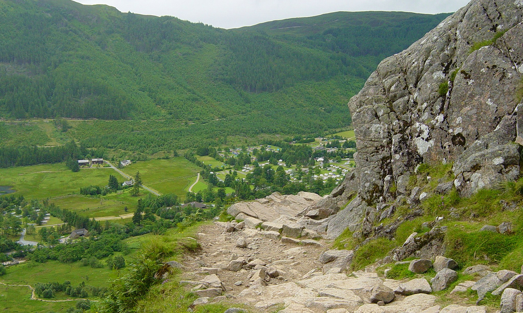 Hiker's path on Ben Nevis