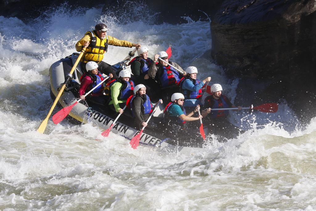 Enjoy white water rafting in West Virginia