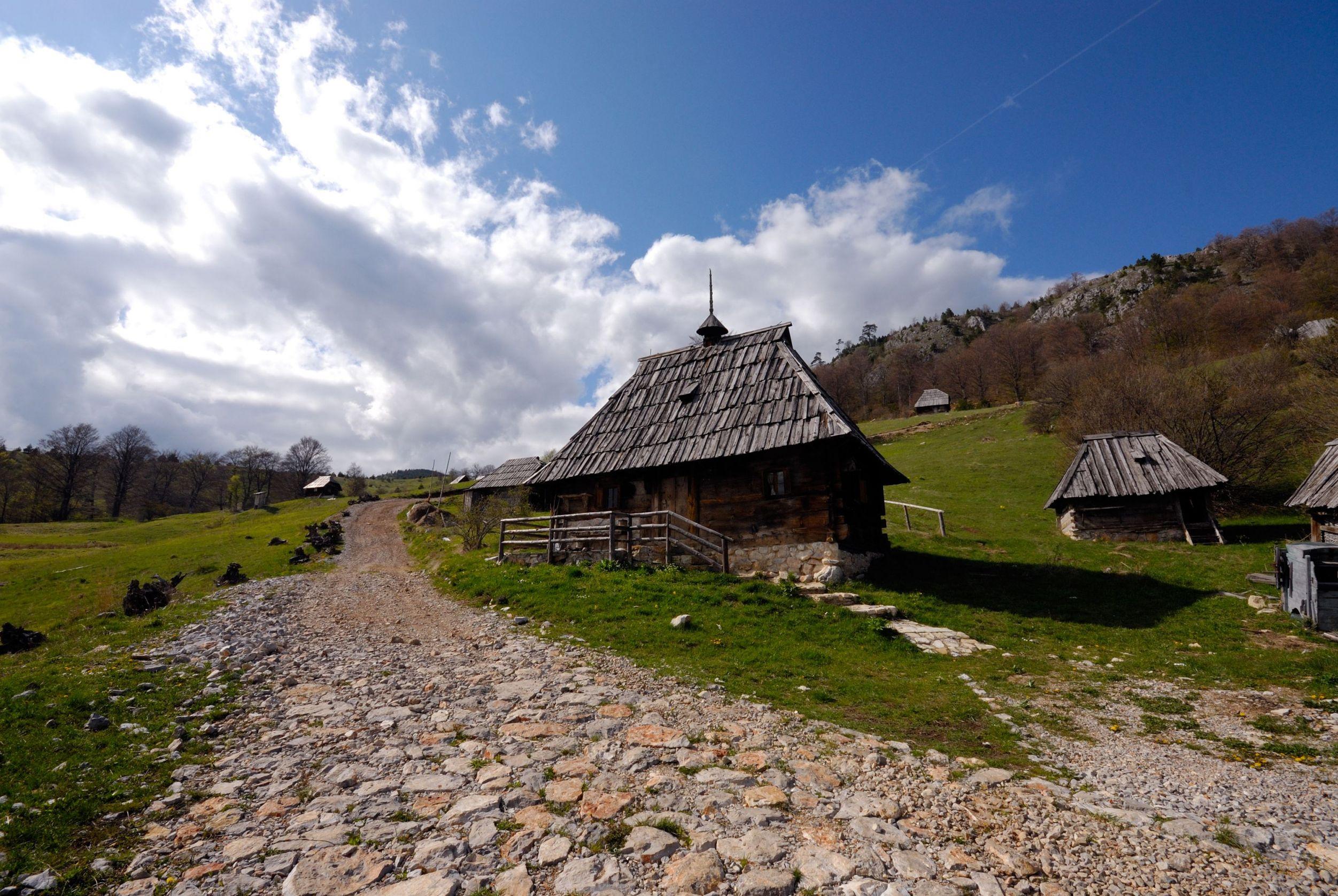 Traditional mountain village, Tara, Serbia