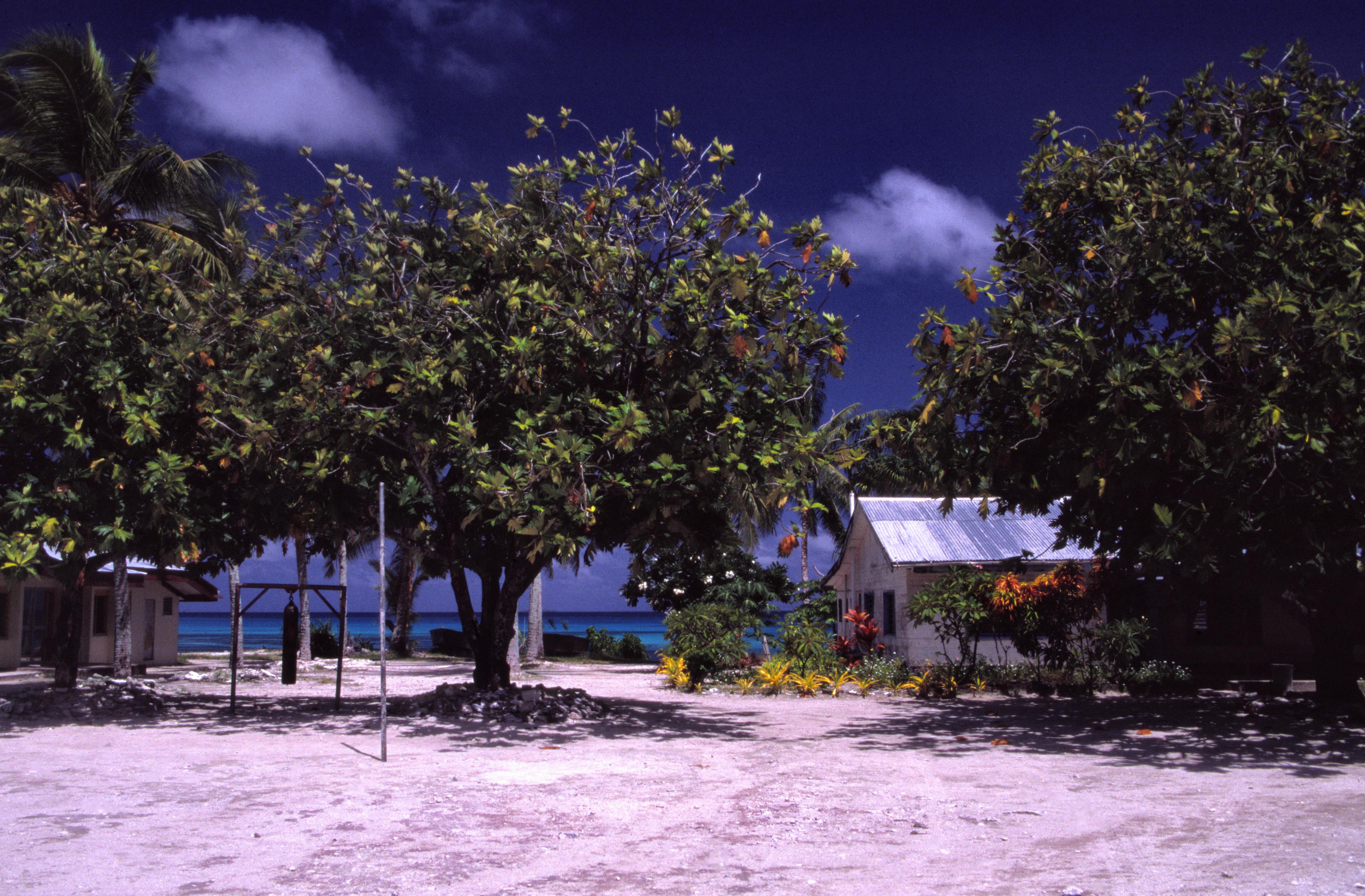 School by the coast, Tuvalu