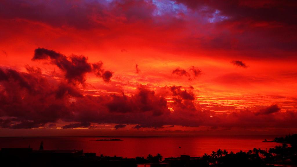 Sunset at New Caledonia