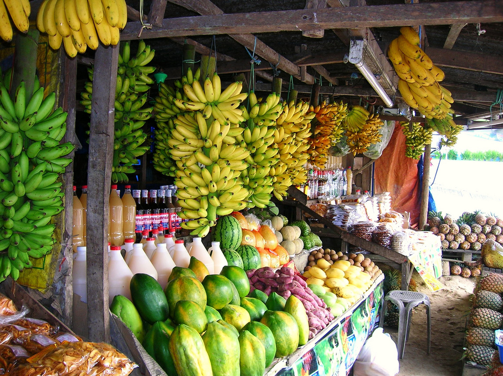 A colourful fruit stand, Philippines