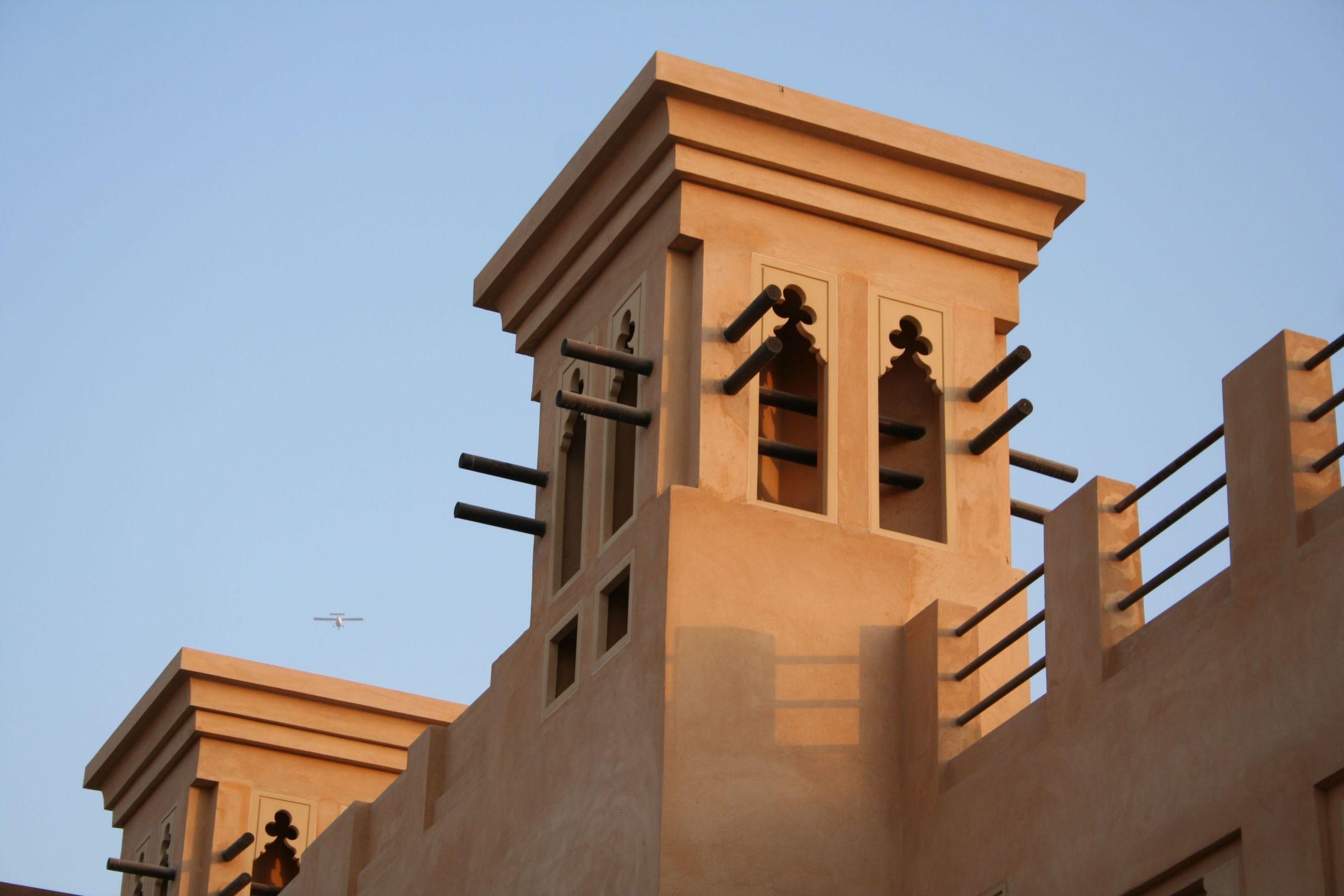 Traditional wind towers of Ras Al Khaimah, UAE