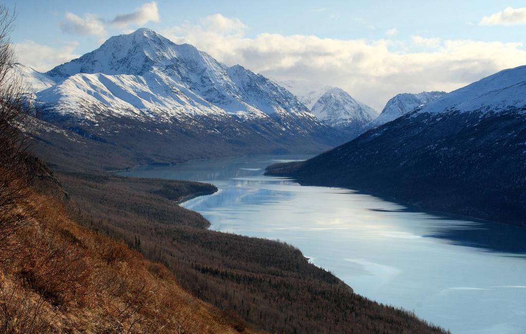 View of Eklutna Lake from the Twin Peaks trail, Alaska