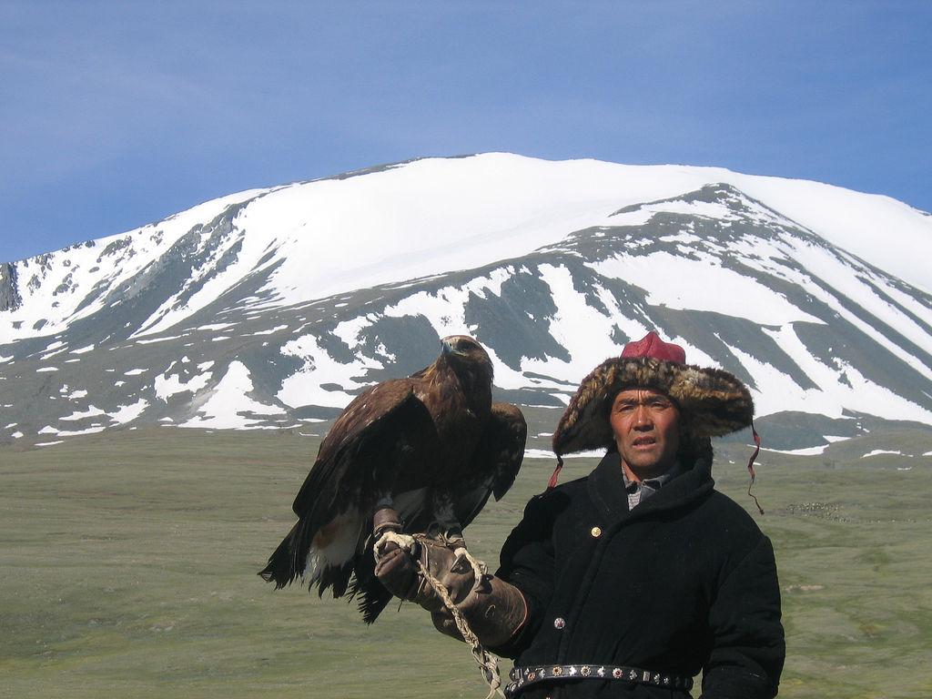 Eagle hunter in Mongolia