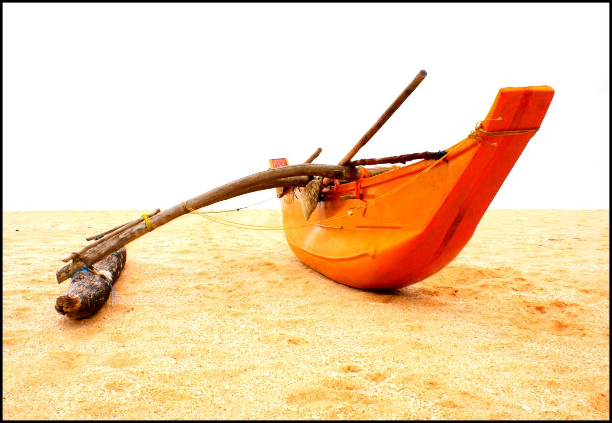Fisherman's boat, Medilla Beach, Sri Lanka