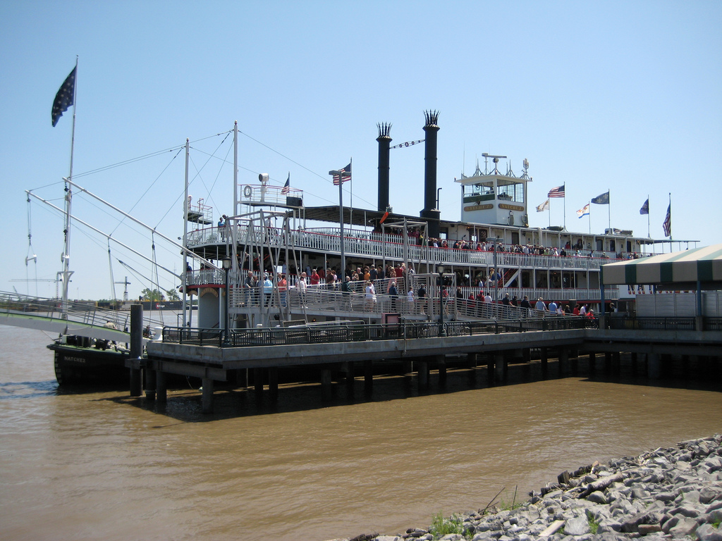 River boat on the Mississippi River, Louisiana