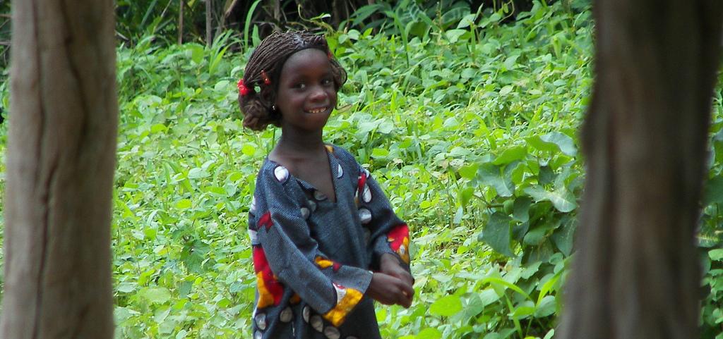 Little girl in Guinea-Bissau