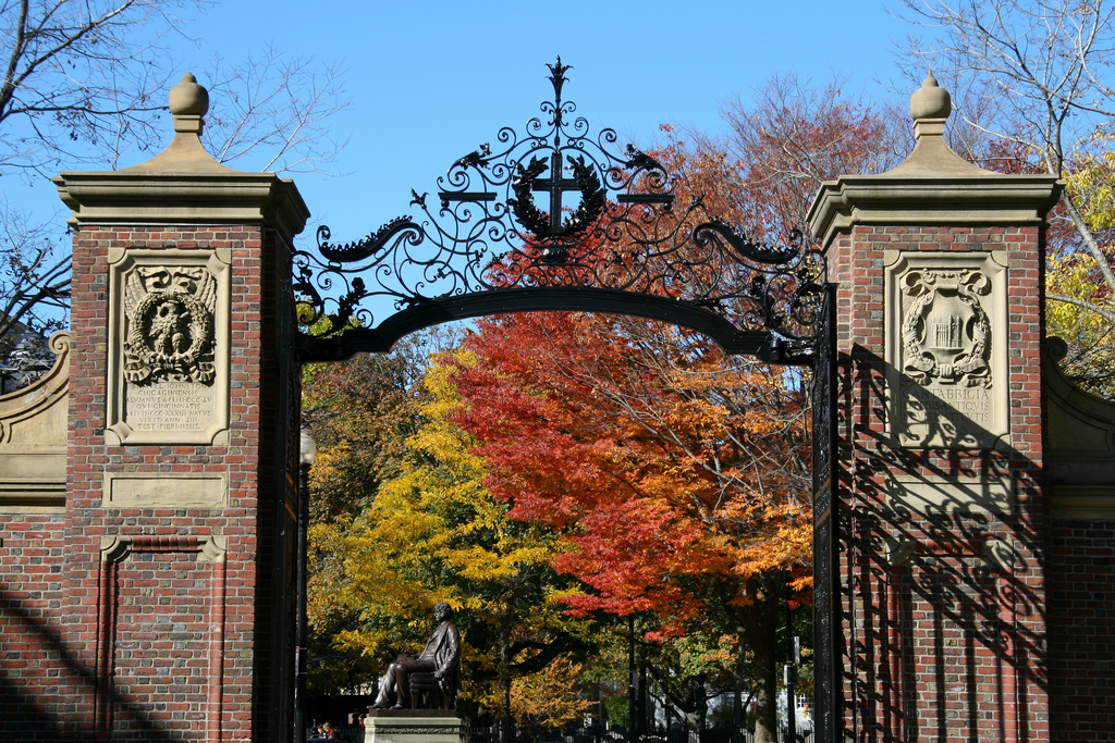 Fall foliage at Harvard University