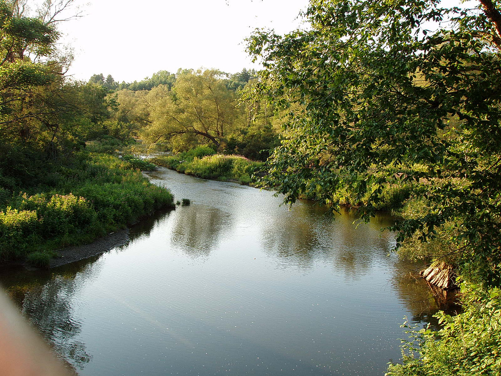 Winooski River in northern Vermont