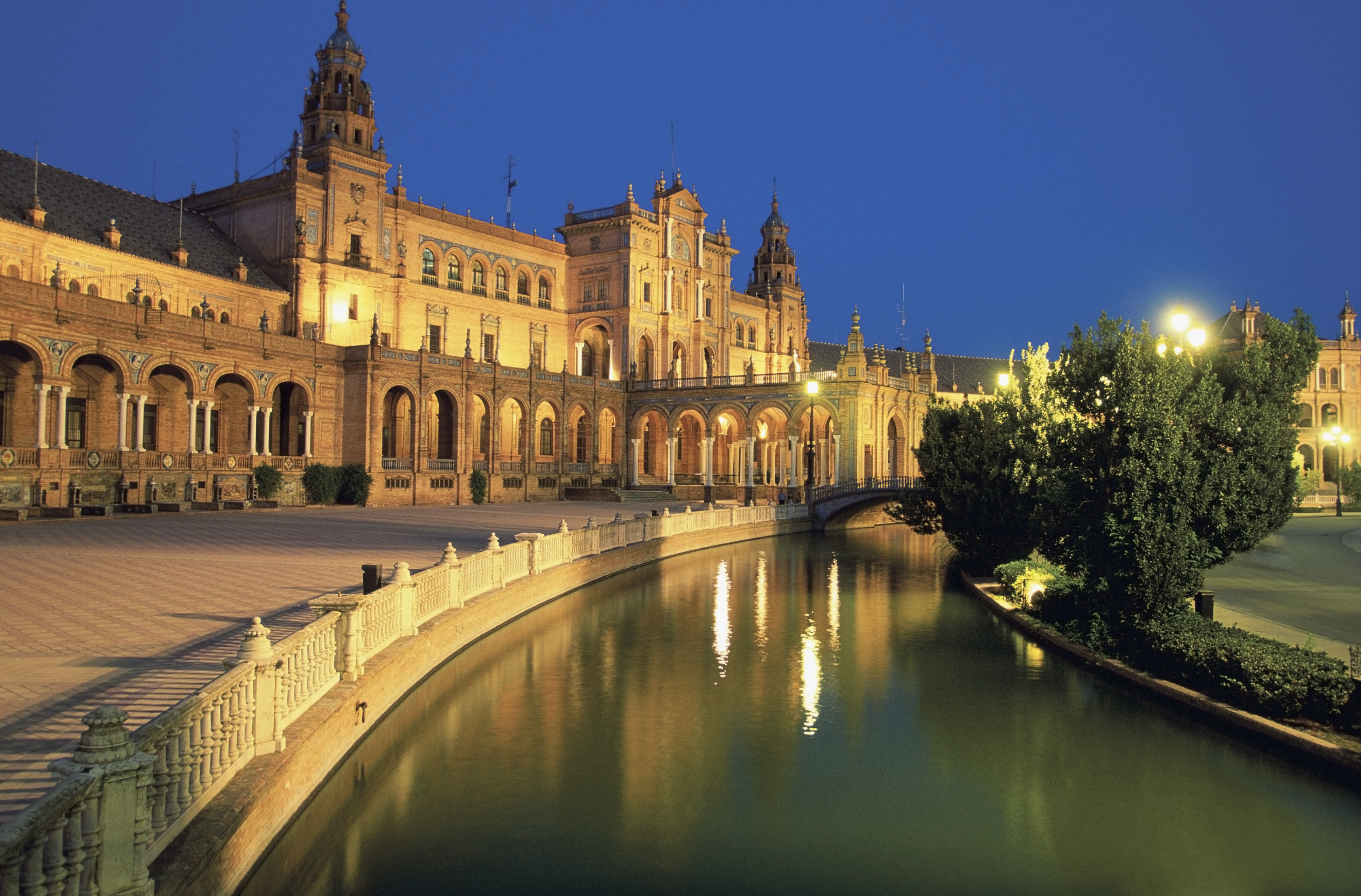 Plaza de Espana Square in Seville, Spain