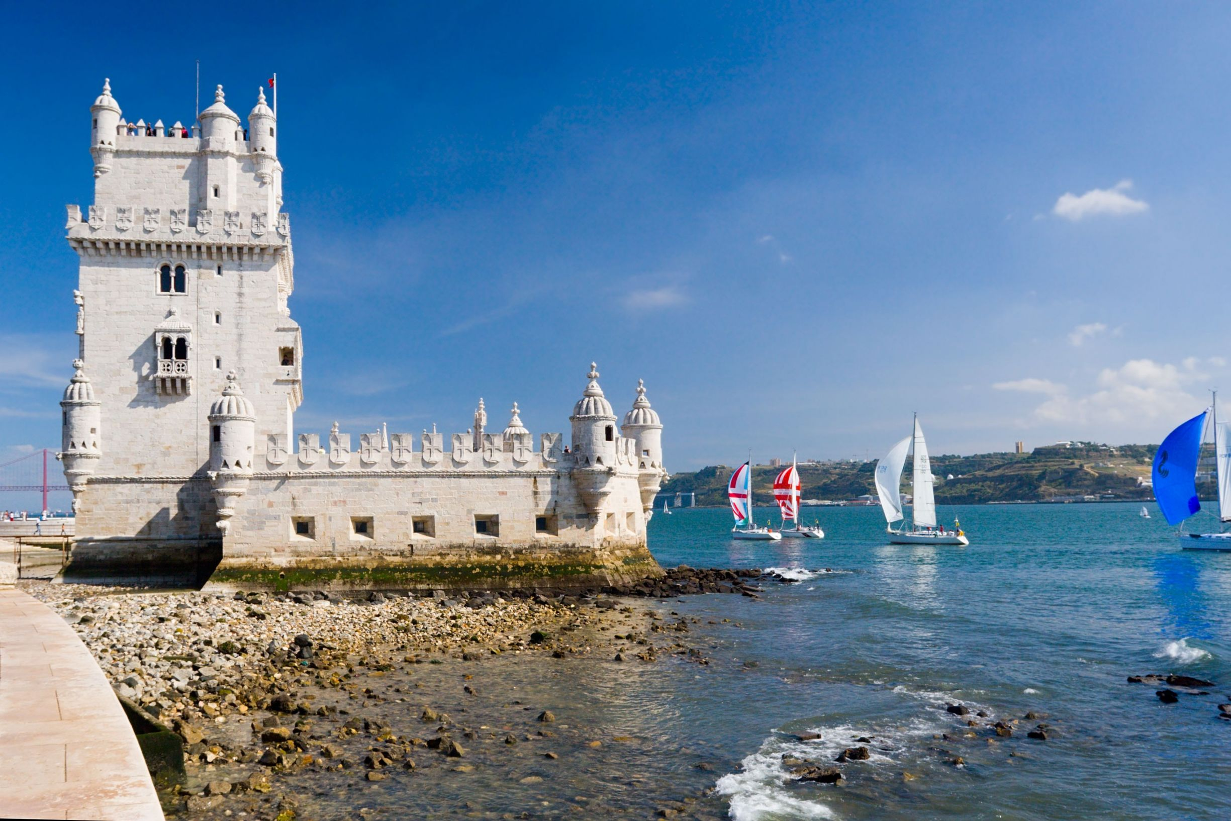 Belem Tower on the Tagus River, Lisbon, Portugal