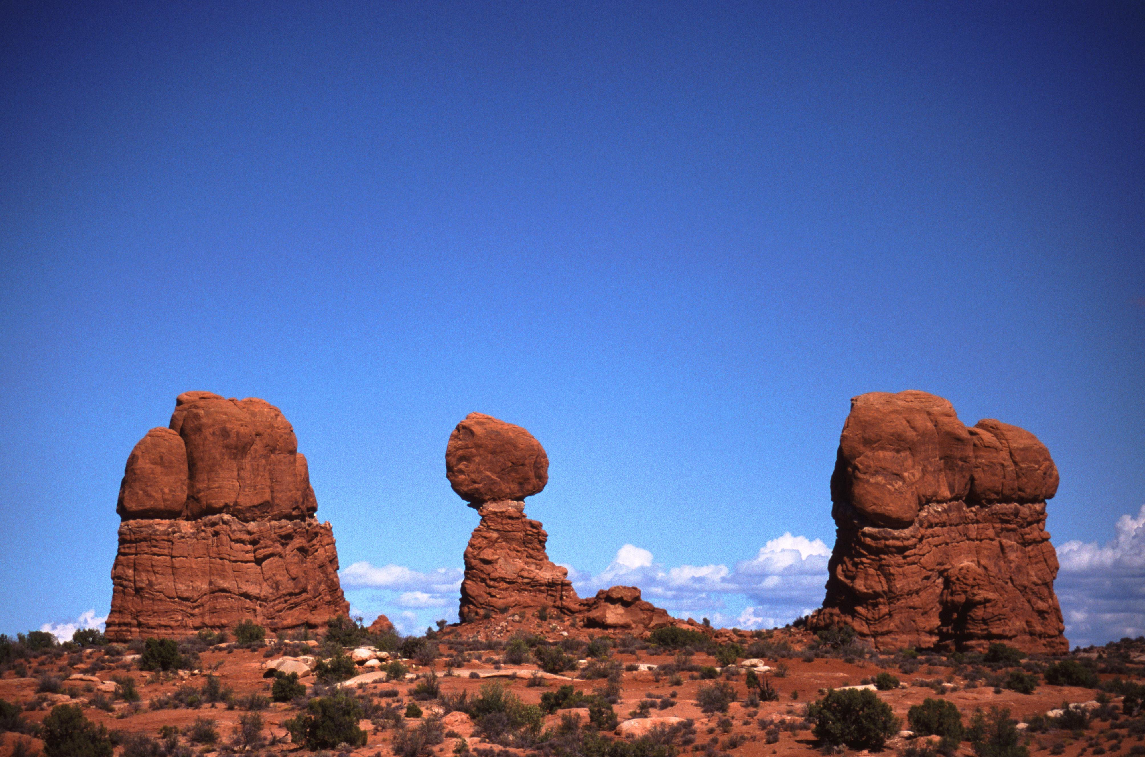 Unique rock formations, Arches National Park, Utah