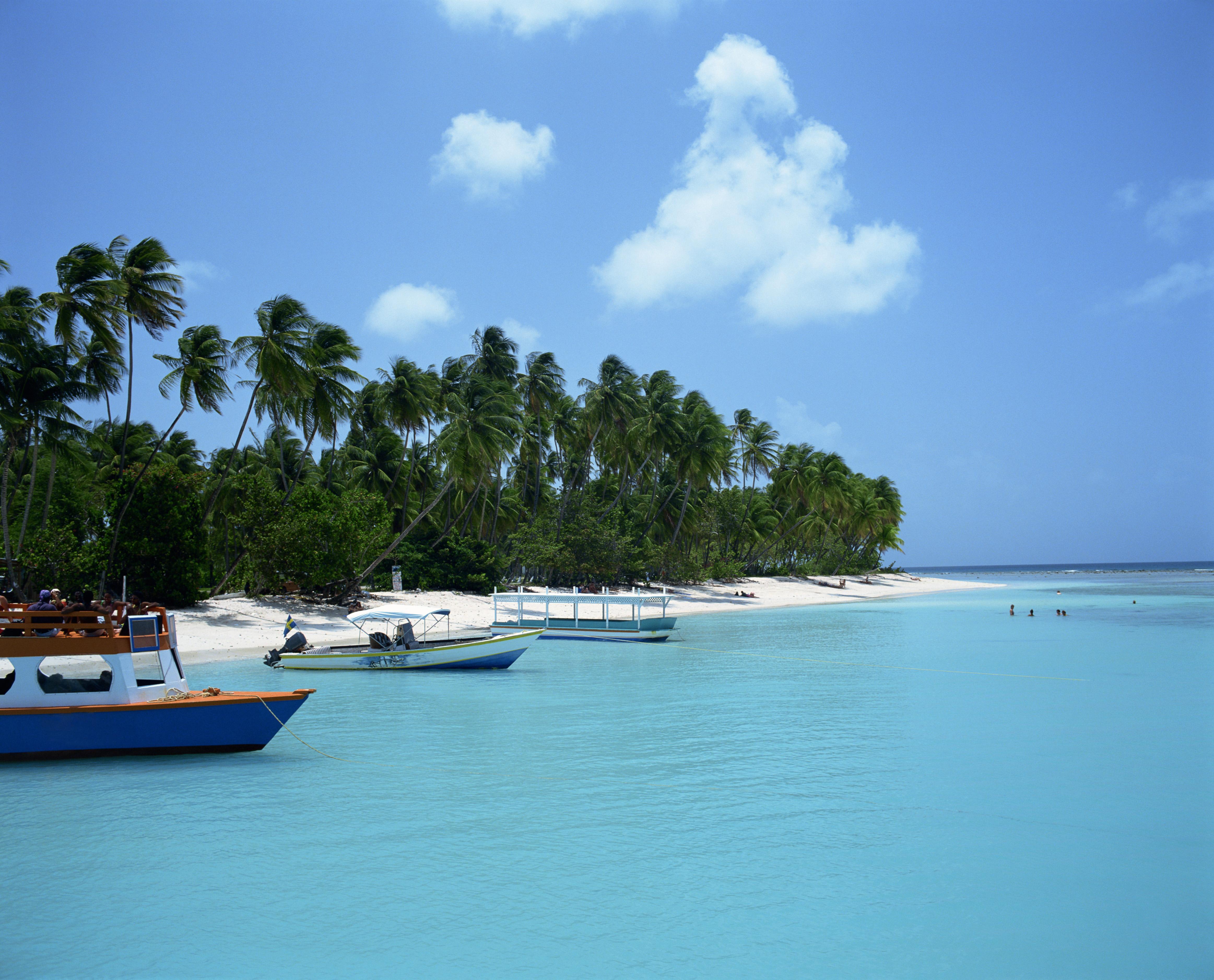 Boats moored at Pigeon Point, Trinidad