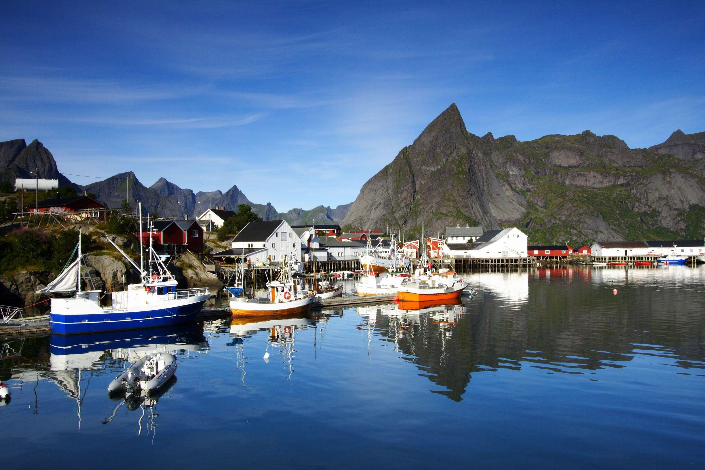 A port on the Lofoten islands, Norway
