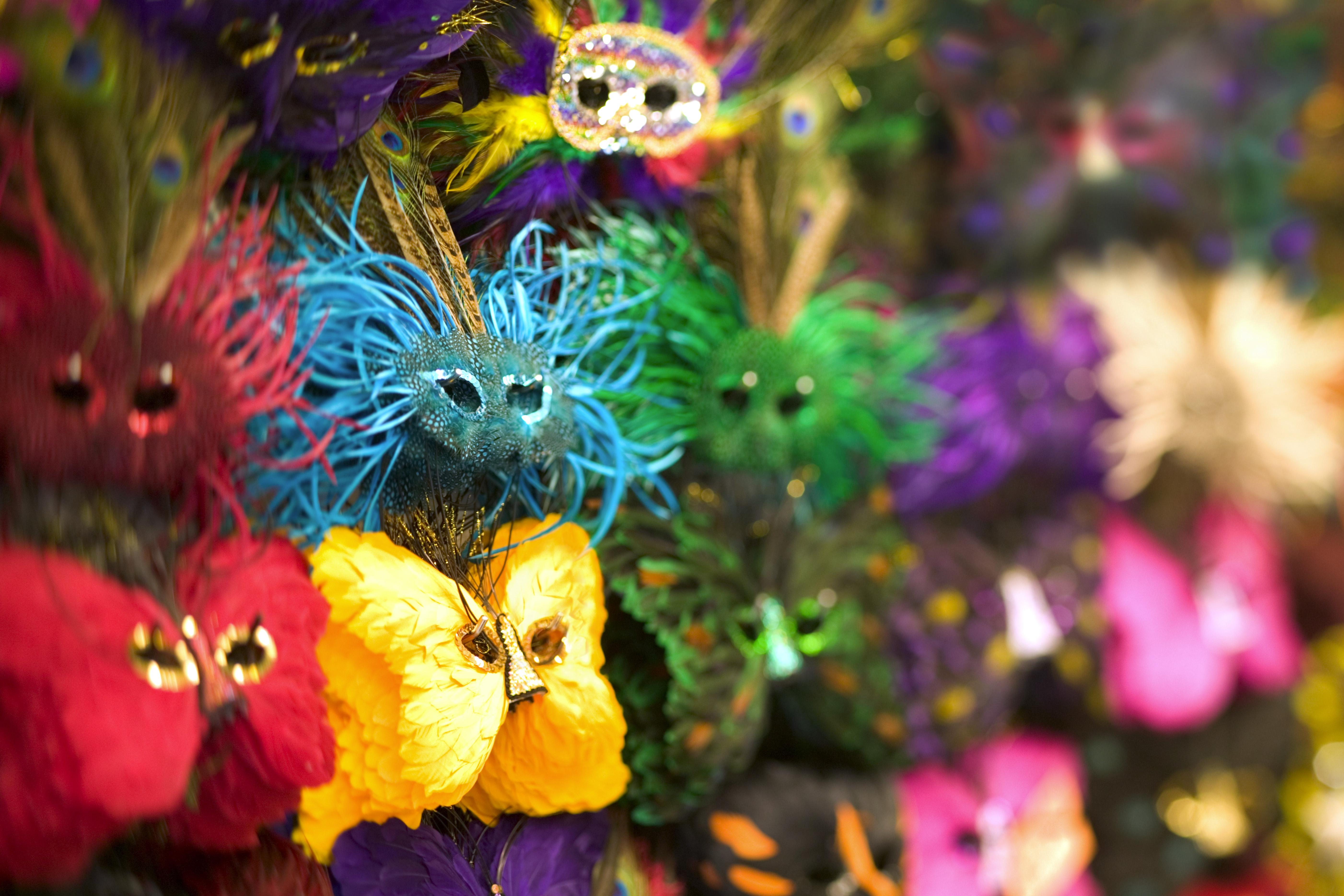 Colourful masks, Mardi Gras, Louisiana