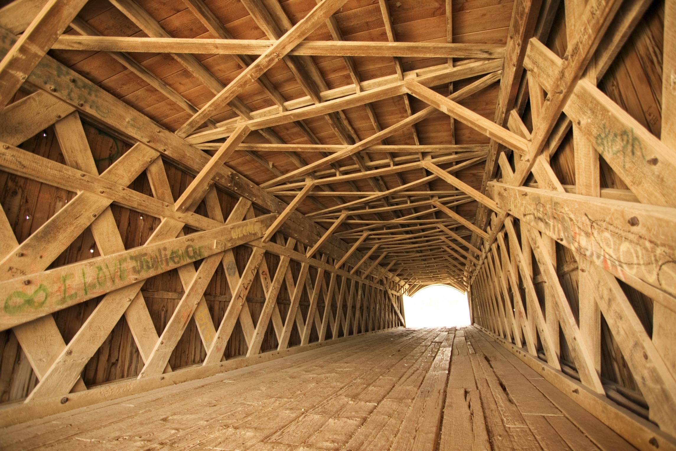 Covered bridge in Madison Country, Iowa