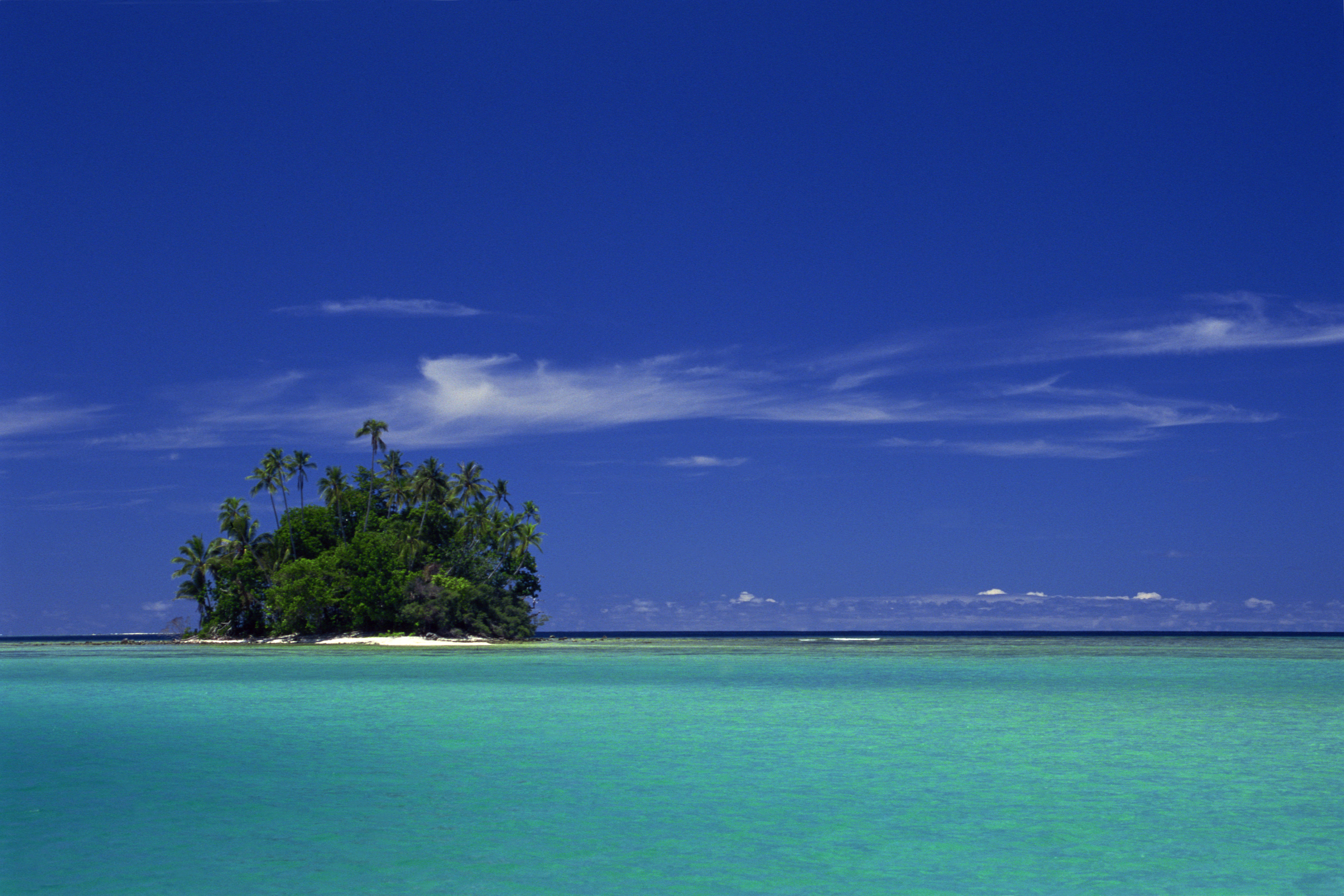 Isolated Coral Island, Soloman Islands