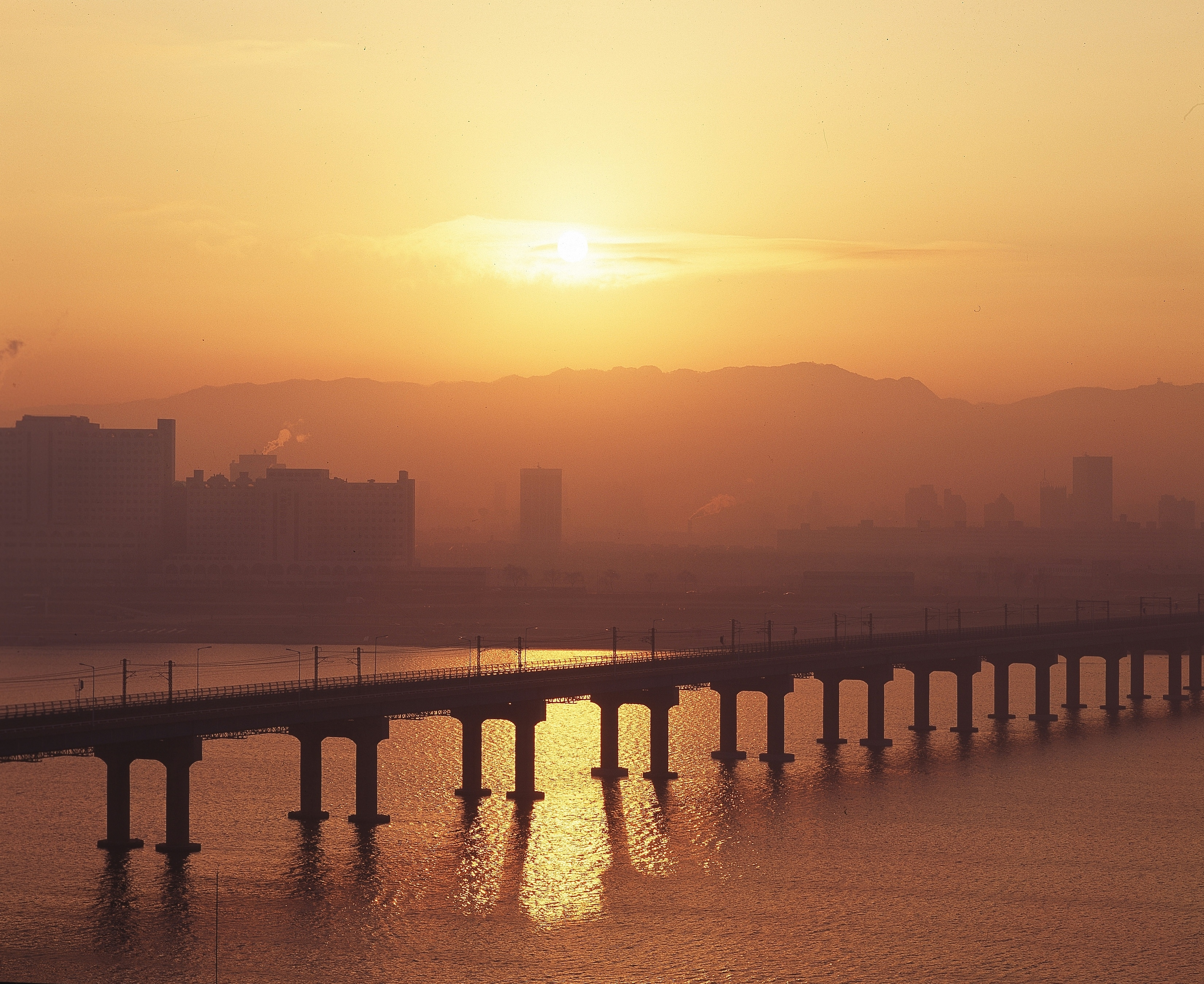 Sunset over Seoul, South Korea