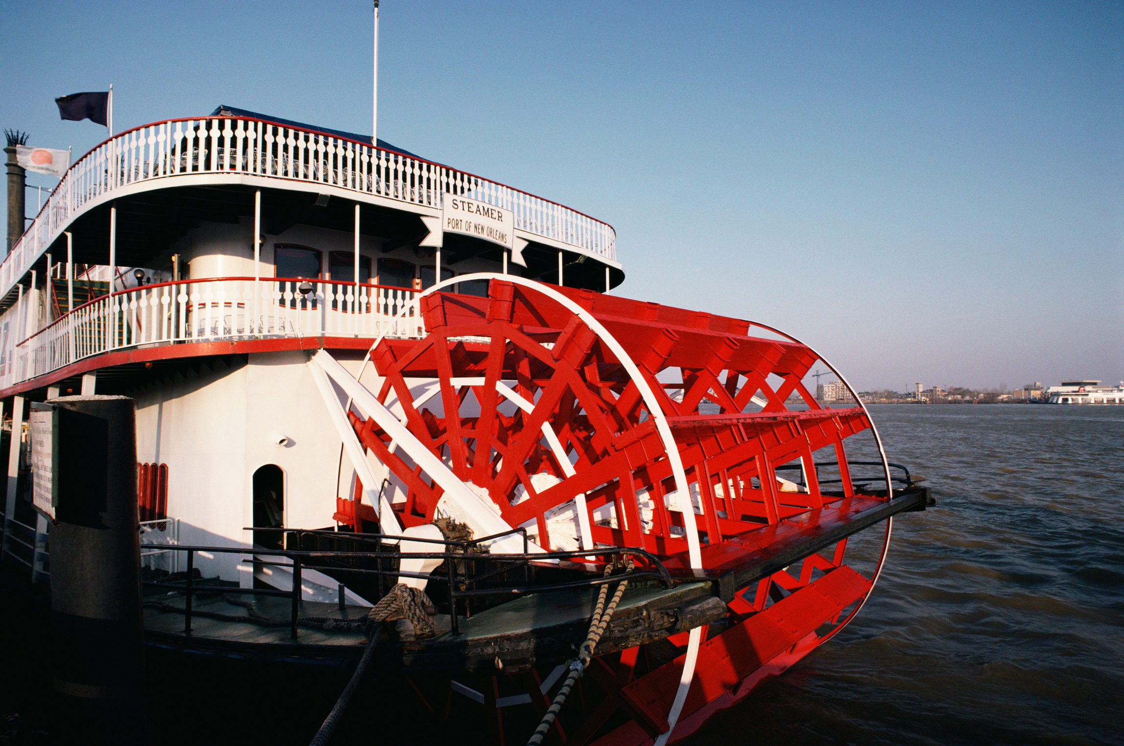 Ferry on the Mississippi river
