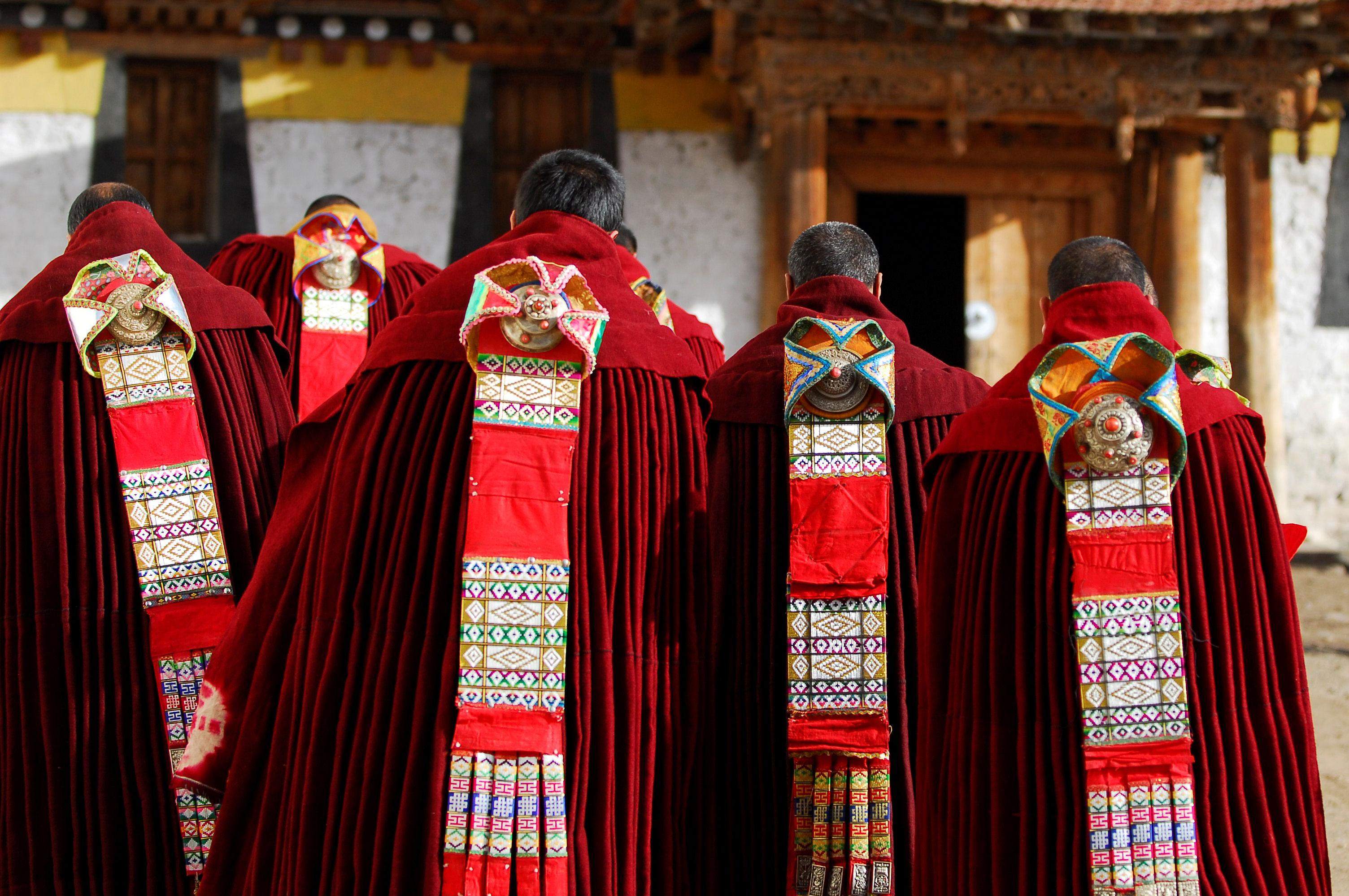 Tibetan monks in ceremony