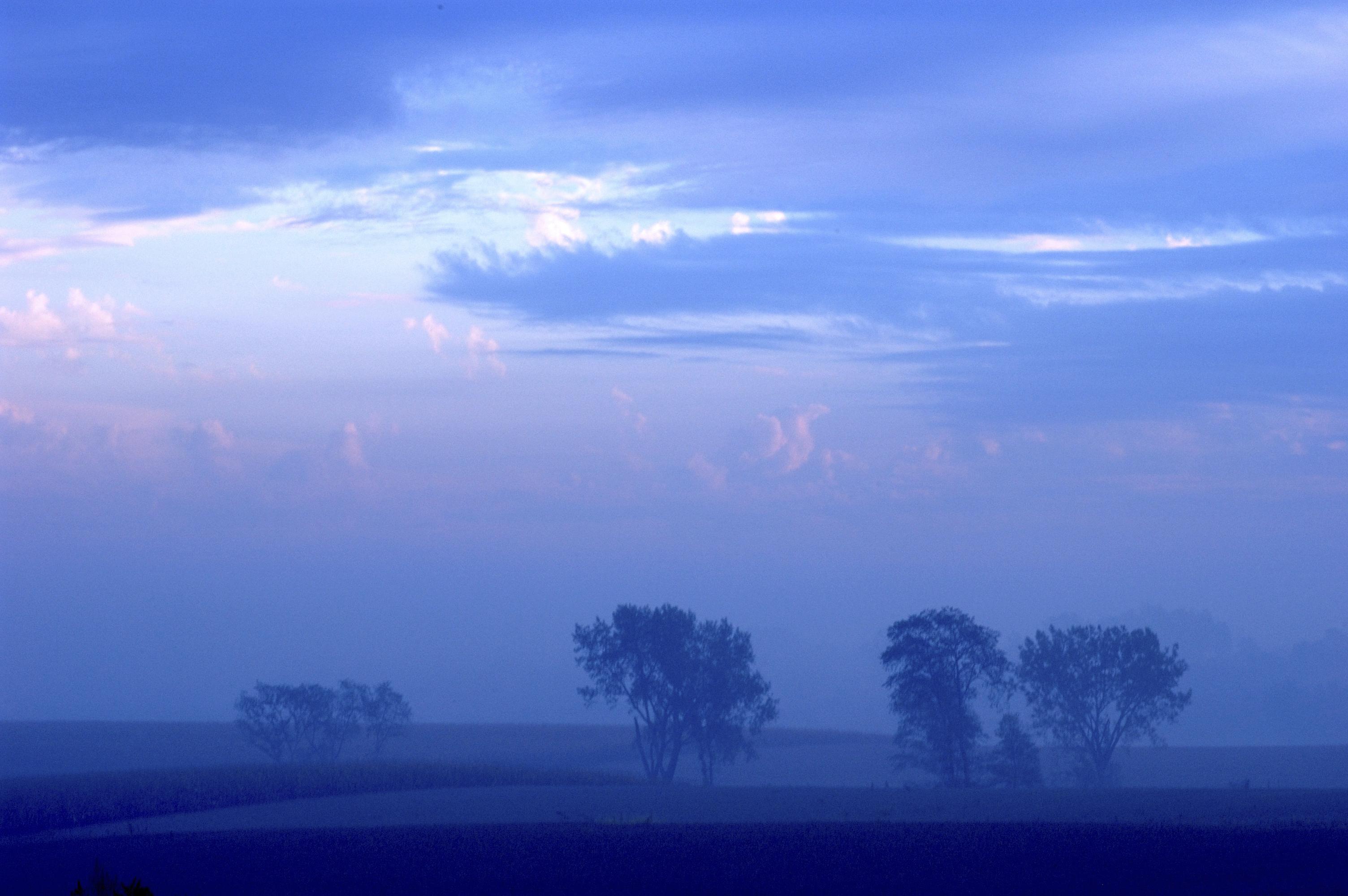 Misty morning on Iowa Plains