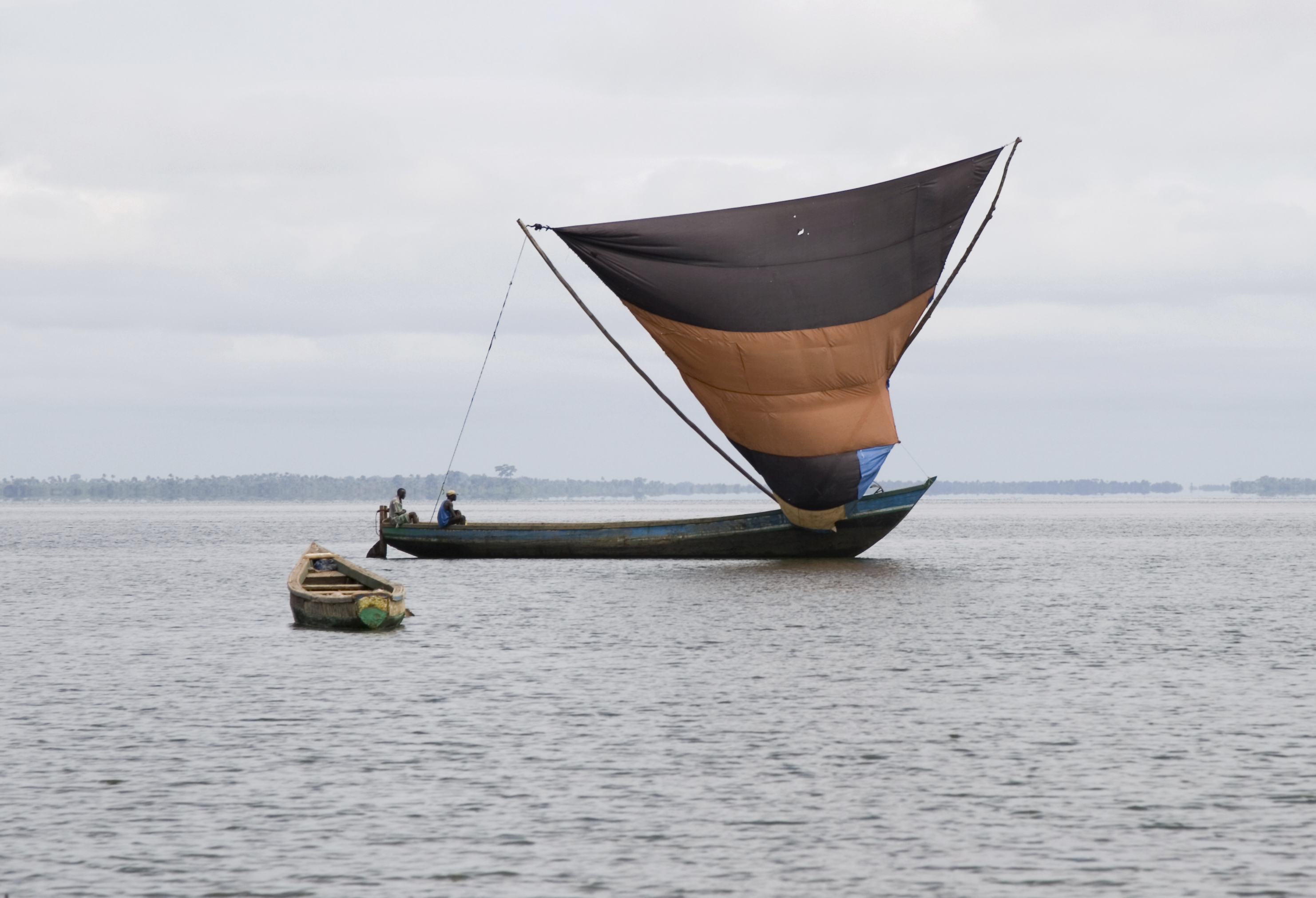 Traditional West African sailing boat, Sierra Leone