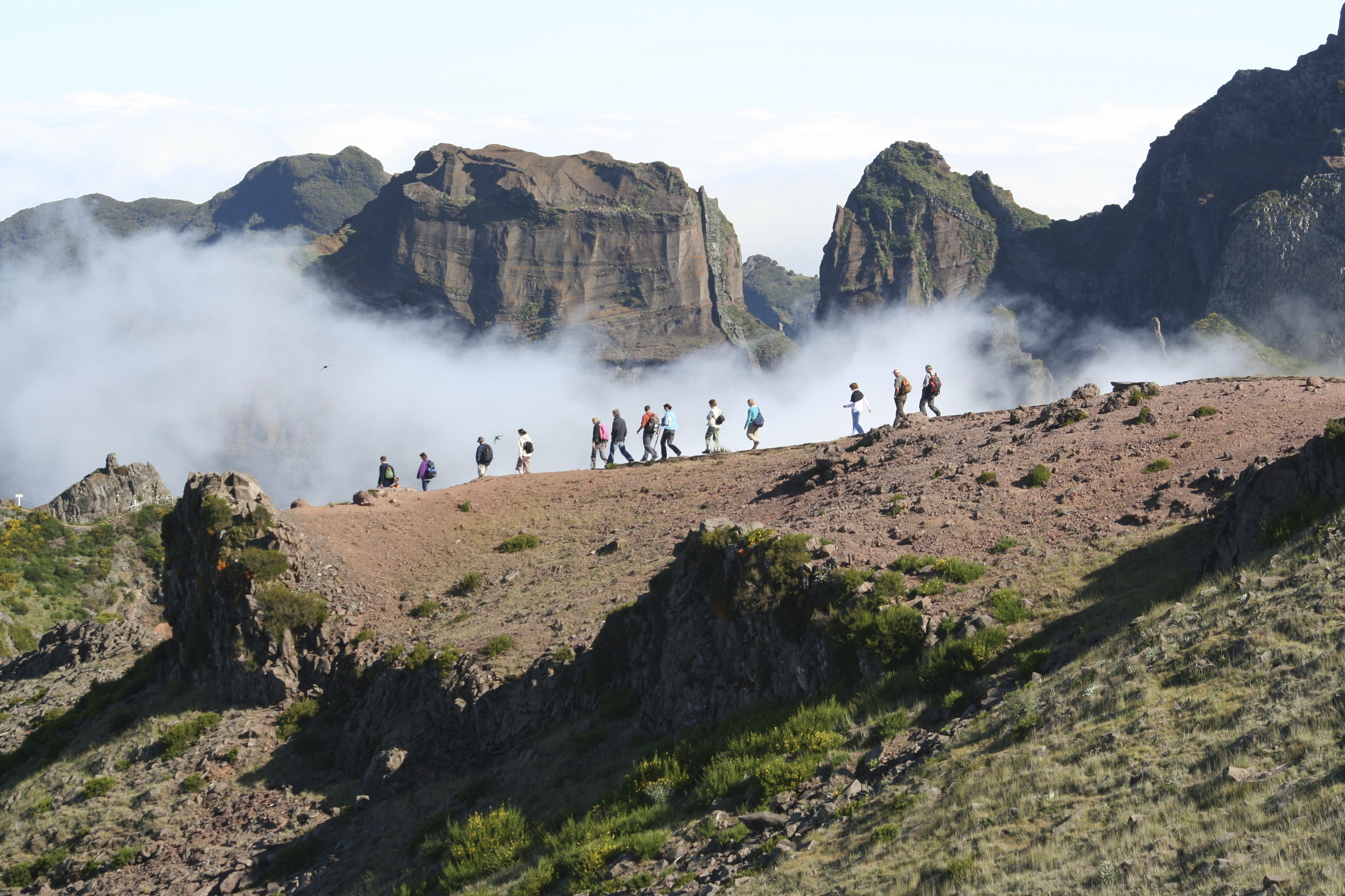 Hiking is popular in Madeira