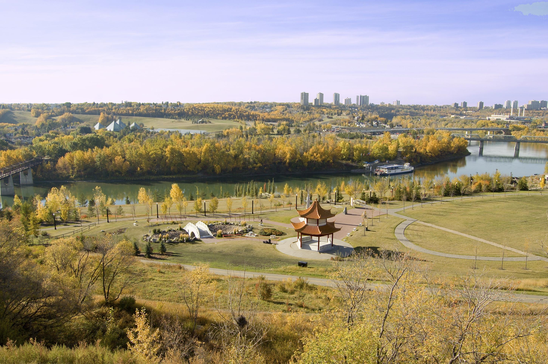 The city of Edmonton offers plenty of green space