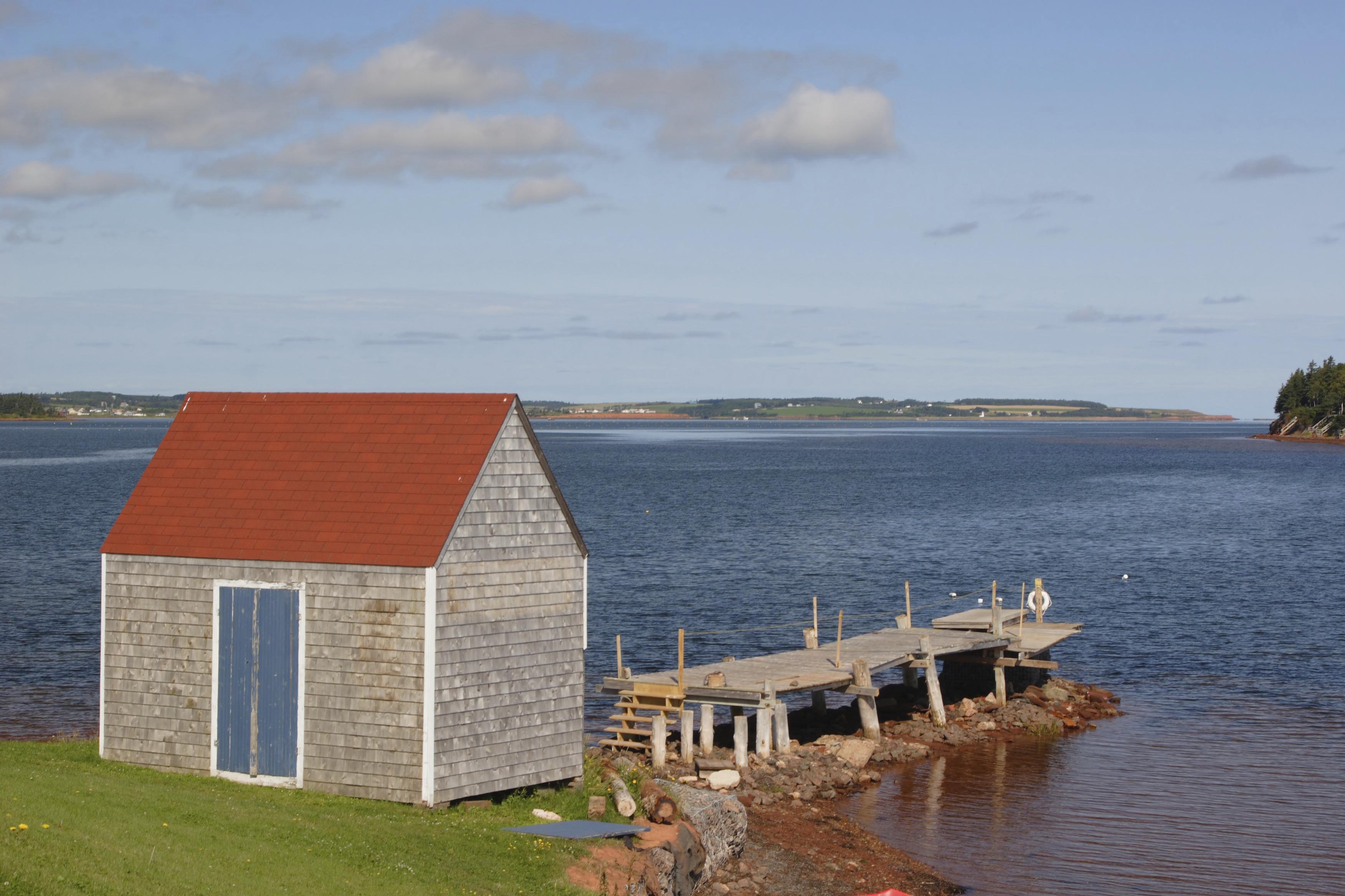 Wharf shed on Prince Edward Island