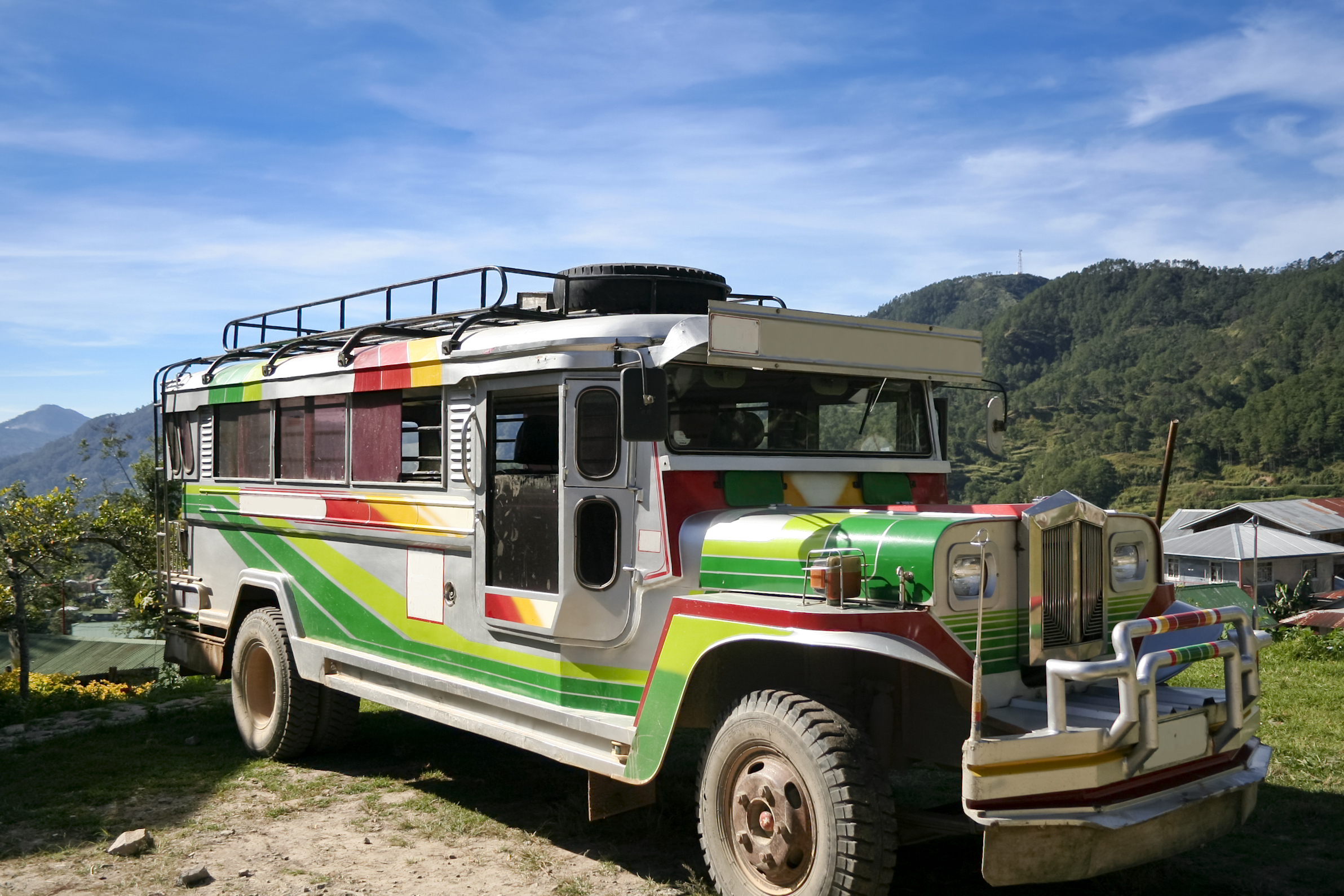 Traditional jeepney, popular form of Philippines public transport