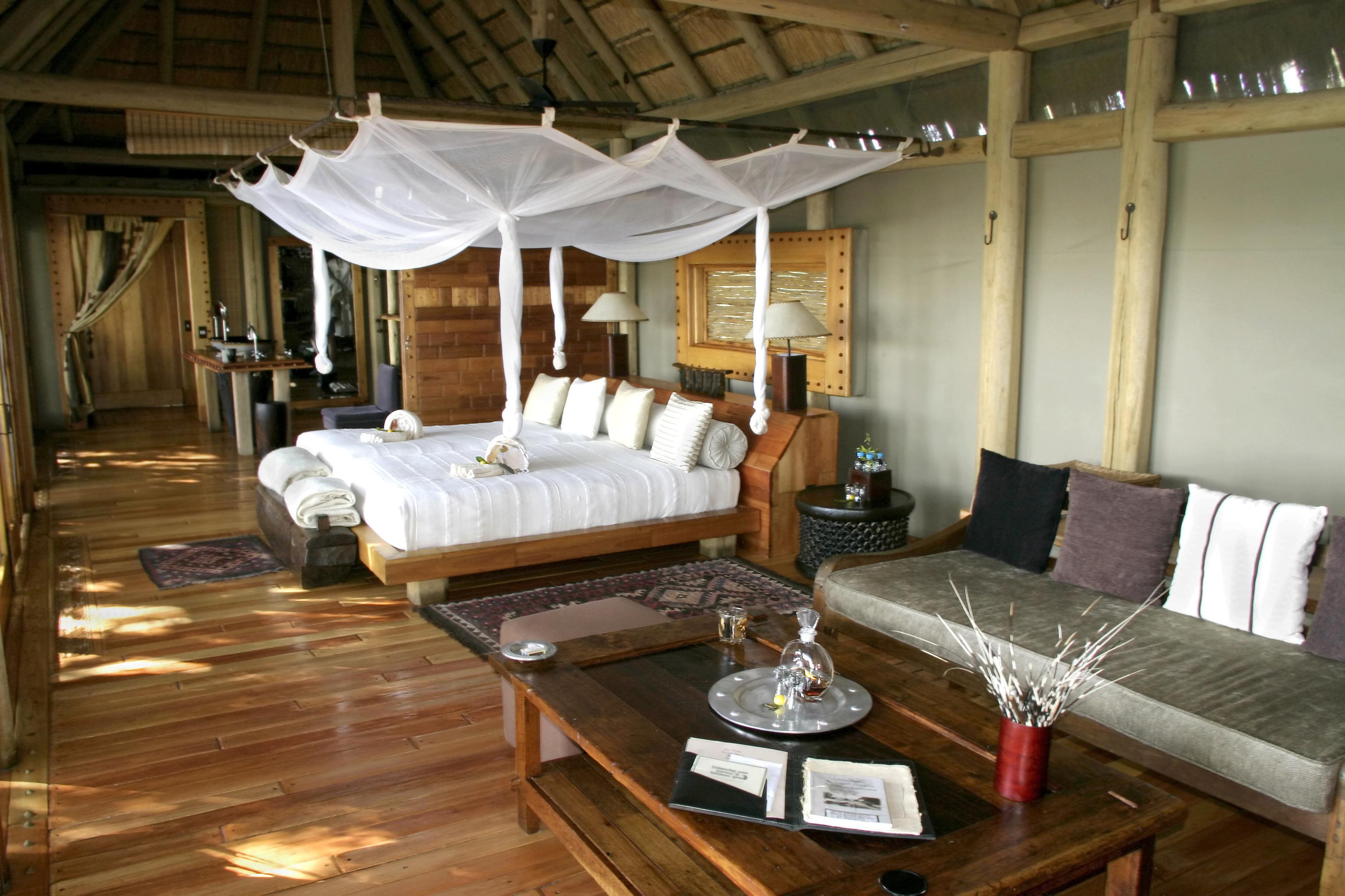 A luxury tent camp safari, Botswana