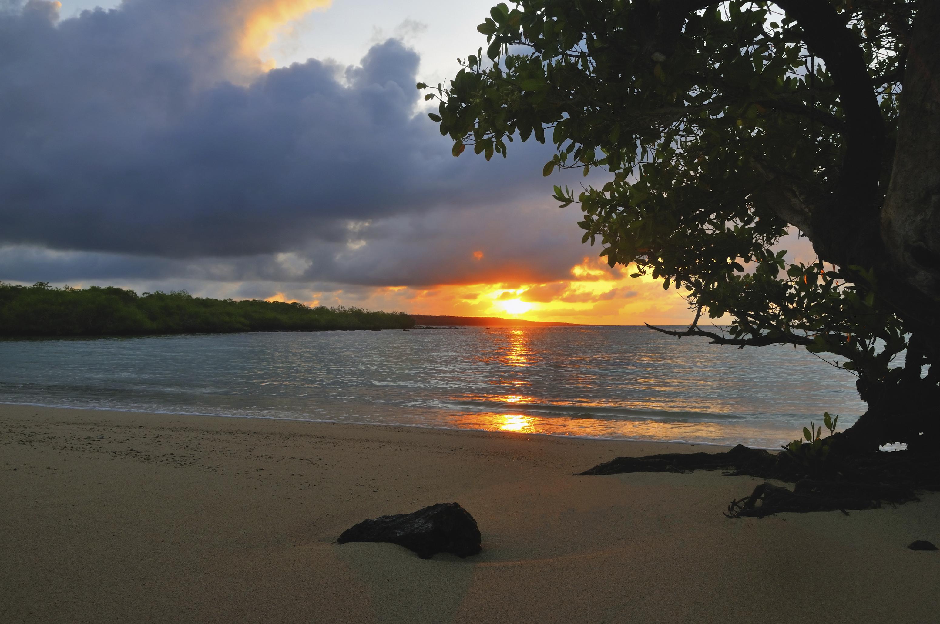 Sunrise in the Galapagos, Ecuador