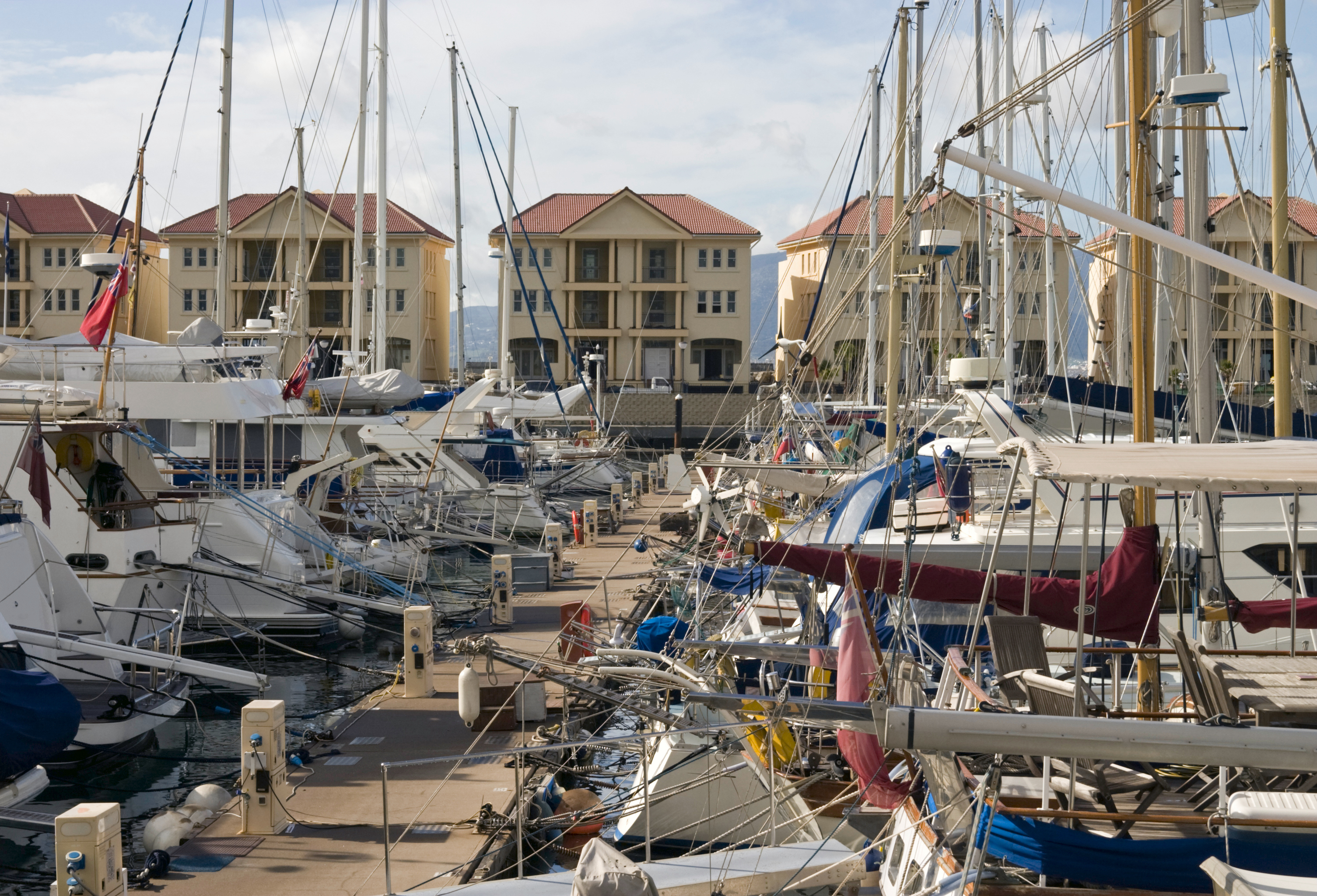 Boats in the Queensway Marina, Gibraltar