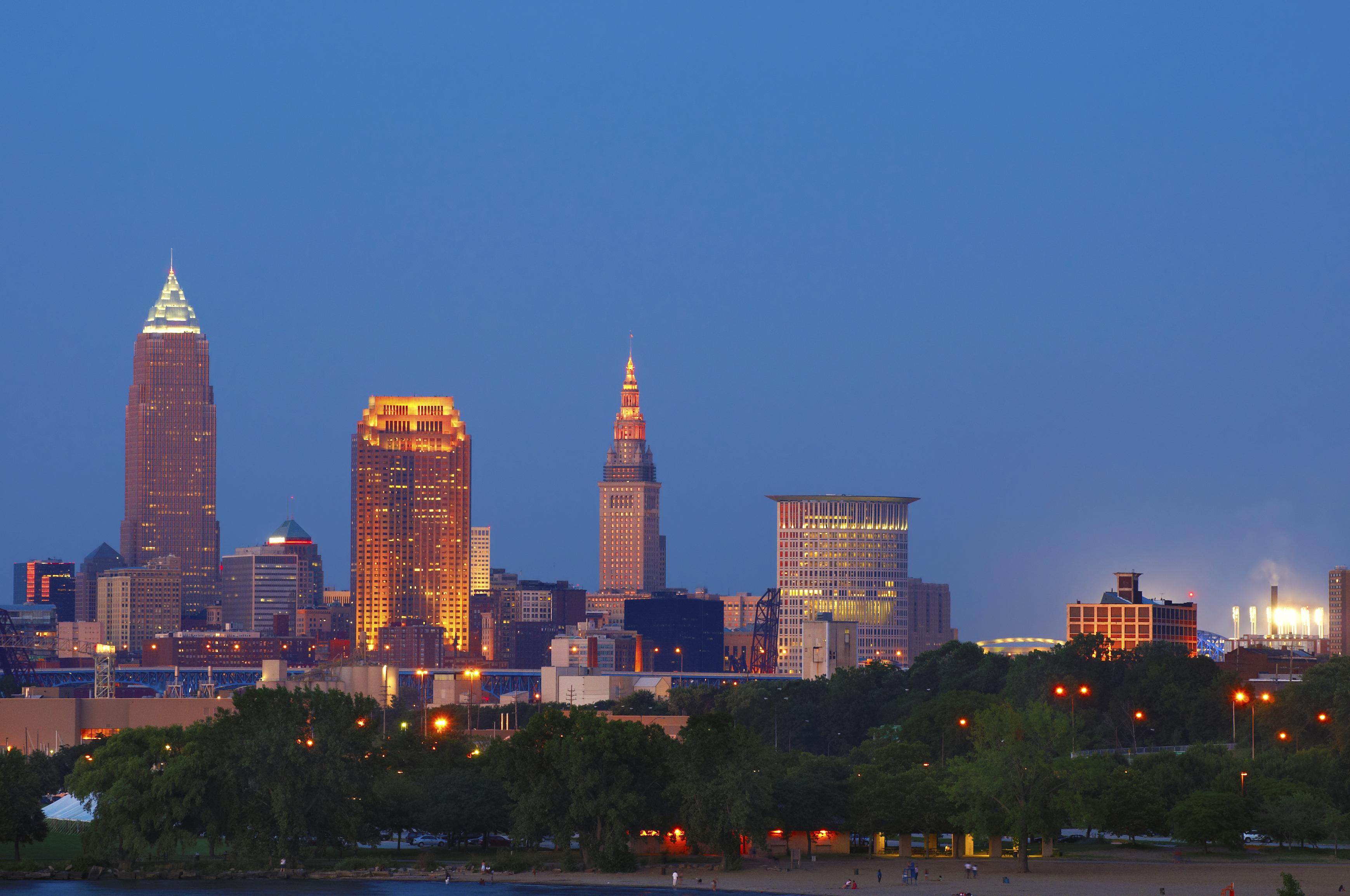 Cleveland at sunset, Ohio